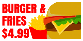 Burger and Fries (Yard Sign)