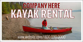 Kayak Rental (Yard Sign)