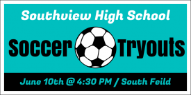Soccer Tryouts (Yard Sign)