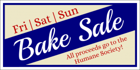 Bake Sale - Fundraiser (Yard Sign)