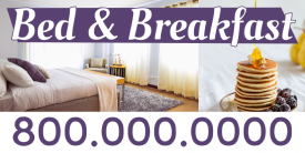 Bed and Breakfast (4ft Banner)
