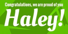 Grad Cap Congratulations! (2ft Banner)