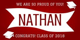 Proud Graduate (3ft Banner)