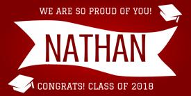 Proud Graduate (5ft Banner)