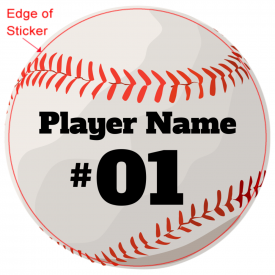 Baseball Player Sticker