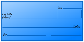 Over-Sized Check (Blue Gradiant)
