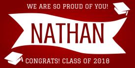 Proud Graduate (2ft Banner)
