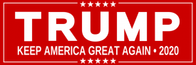 Donald Trump 2020 (Bumper Sticker)