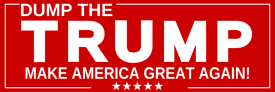 Dump Trump Red (Bumper Sticker)