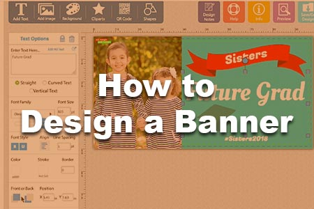 How to design a banner online.
