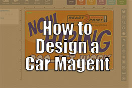 How to design a car magnet online.